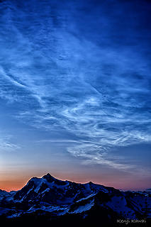 noctilucent clouds over Shuksan