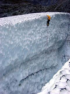 Ice climber at the top of the Big Four Glacier, 12-2002