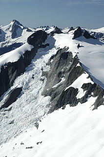icy peak and spillway glacier