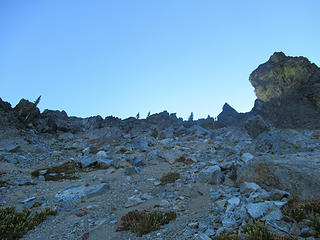 the last 1000 ft to the col