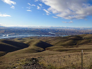 View before dropping down the Lewiston grade.