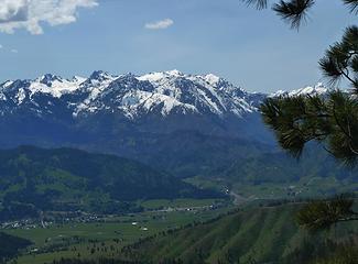 lush spring valley