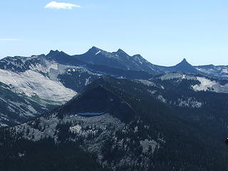 Twin Peaks and the high granite to the south