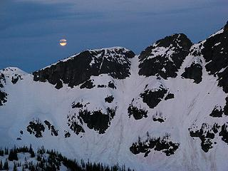 Banded Moon (Gabriel ascent gully in center)
