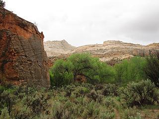 Navajo sandstone appears
