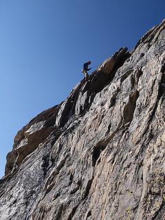 Eric making the one rappel
