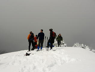 Two snowshoers joined us at the summit