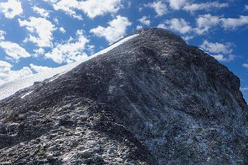 Hozomeen final summit ridge, just a walk-up
