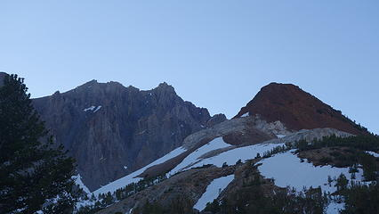 Chocolate Peak from the trail near Long Lake