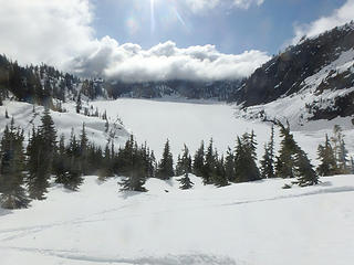 Snow Lake fron the foot of Roosevelt