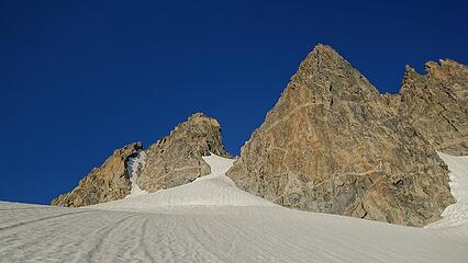Looking straight to Pinnacle Ridge