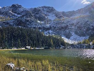 Cutthroat Lake after an early fall snowstorm