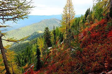 Colorful hillsides