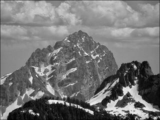 Sloan Peak & Mt. Forgotten, as seen from the summit of Bluegrass Butte, 7.3.09.