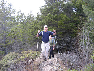 Rich and Colleen reaching the summit.