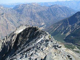 Jake heading down the ridge