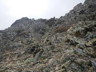 Matt above on the summit