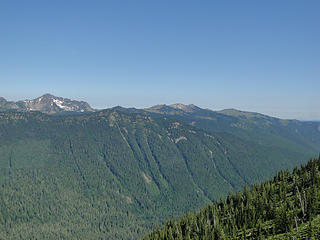 Views from near snow patch on Crystal Peak trail.