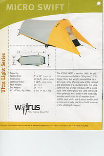 Microswift 1 person tent