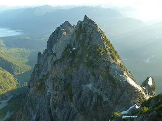 The towering North and Middle Peaks of Index as seen from the Main Peak.