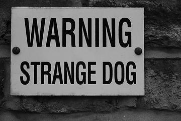Warning, Strange Sign!