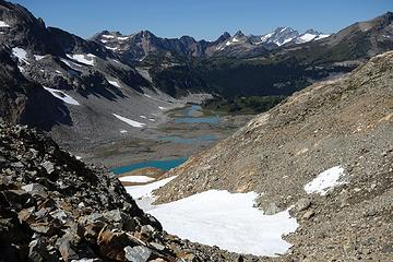 Upper Lyman Lakes and the incredible scenery that awaits on the other side of the gap