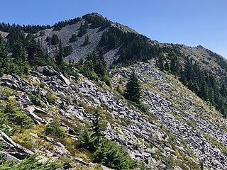 First summit views. It was still a long ways away.