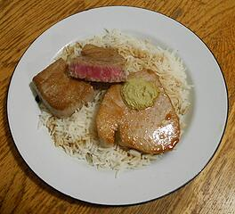 Yellowfin Ahi and Rice 102220