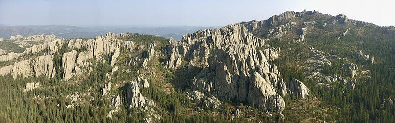 View from Little Devils Tower summit