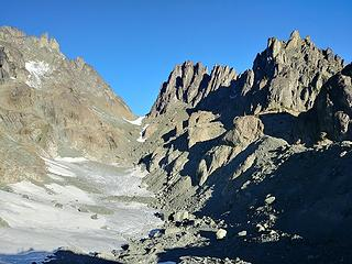 Mount Clark (on the right) above Surprise Basin