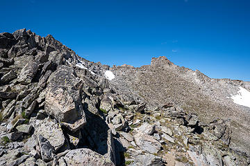 bouldery traverse over to other ridge