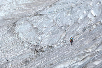 Dec: Climber, ice tools, ice