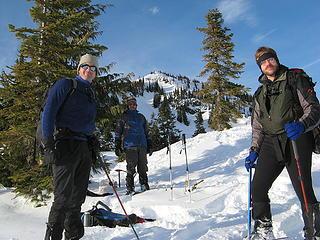 Jay, Richard, & Eric below the summit