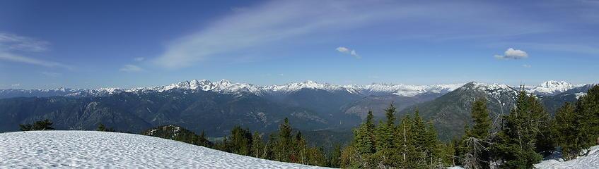 Fawn Peak summit pano