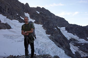 14. Philip in front of the glacier (we still had not yet set foot on it)
