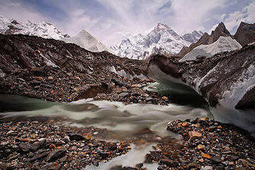 Glacial stream below Masherbrum
