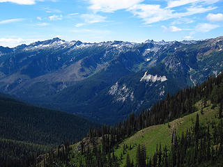 Look toward Bandit and Little Giant Pass