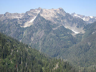 Mts. Seattle, Cougar and Noyes from Martin lakes trail