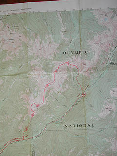 295 map showing route and camps
