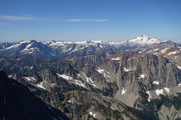 Glacier and the Dakobed range during the eclipse