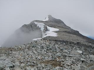 summit in clouds