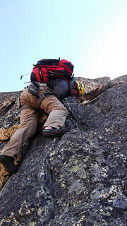 Me topping out above the cracks.