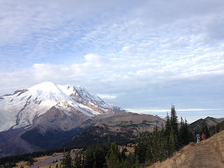 Mount Rainier, Adam and Heather in the morning
