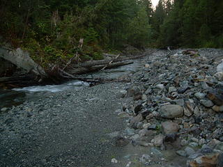 Boulder River camp view (downstream)