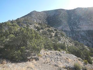 west ridge above