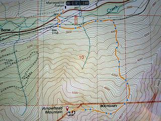 Arrowhead trip map