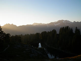 Sunset over Lake Beauty