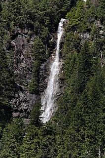 Waterfall coming off the east side of Malachite Peak