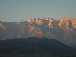 Whitney across Owens Valley