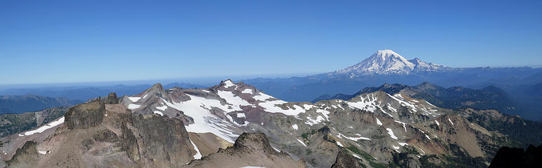 Looking down ridge West to Rainier.